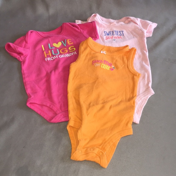 60348539e Carter's One Pieces | Carters 3 Bundle Of Onesies W Cute Sayings ...
